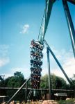 Air thrilling riders on opening day, 2002!